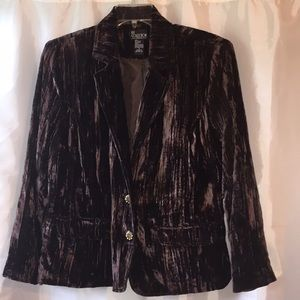 Woman's  Brown crushed velvet blazer size X